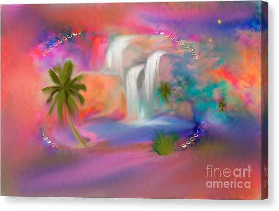 A Little Secret Place In Heaven To Meditate Canvas Print