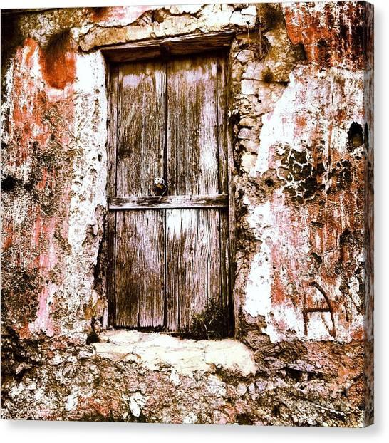 A Locked Door Canvas Print by H Hoffman