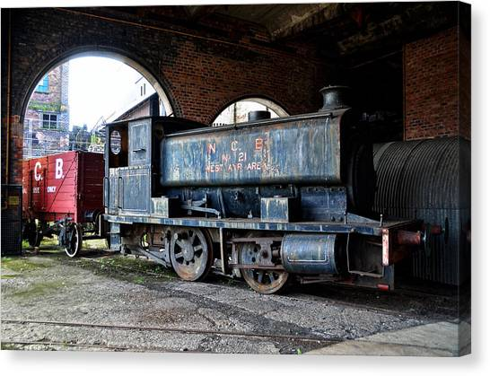 A Locomotive At The Colliery Canvas Print