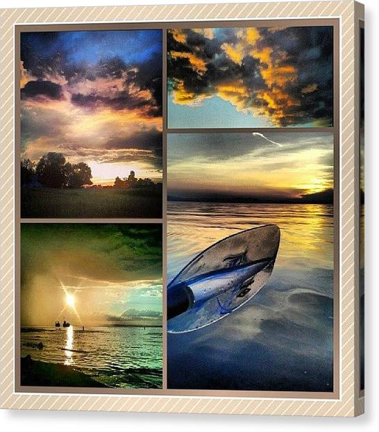 Kayaks Canvas Print - A Look Back On Some Of My Sunset Photos by Aiden Gilbert