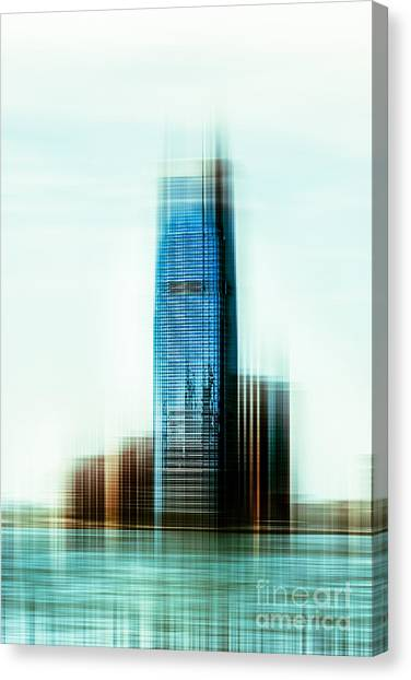 A Look To New Jersey II - Steel Canvas Print