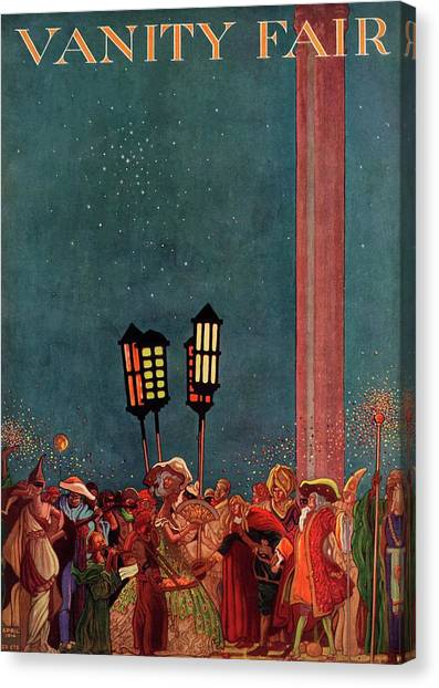 A Magazine Cover For Vanity Fair Of A Carnival Canvas Print by Raymond Crawford Ewer