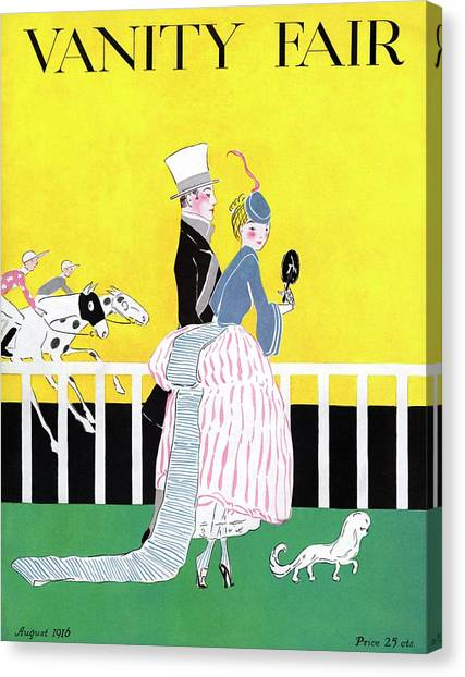 A Magazine Cover For Vanity Fair Of A Couple Canvas Print by Ethel Plummer