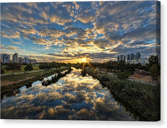 A Magical Marshmallow Sunrise  Canvas Print