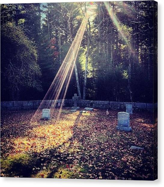 Rhode Island Canvas Print - A Magical Scene In A Country Cemetary  by Jason Fourquet