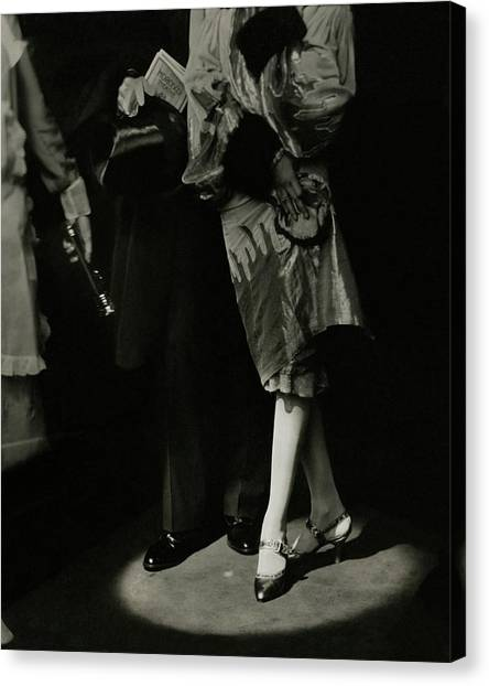 A Male And Female Model Canvas Print