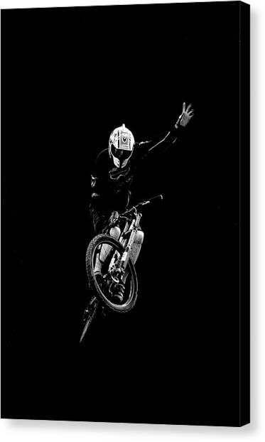 Freeriding Canvas Print - A Man Catches Big Air In Leogang by Scott Markewitz