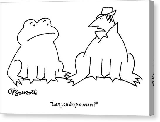 Centaurs Canvas Print - A Man In A Frog's Suit Talking And Standing Next by Charles Barsotti