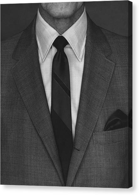 A Man Wearing A Suit Canvas Print by Peter Scolamiero
