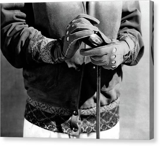 A Man Wearing Gloves Canvas Print by Edward Steichen