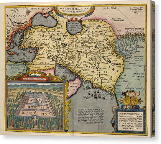 Syrian Canvas Print - A Map Ofasia by British Library