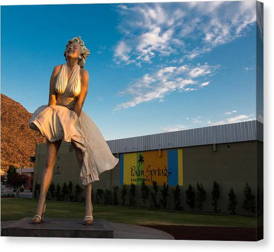 Monroe Canvas Print - A Marilyn Morning by John Daly