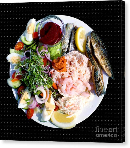 Mayonnaise Canvas Print - A Medley Of Fish by Terri Waters
