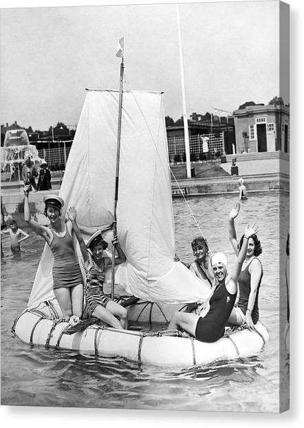 Inflatable Canvas Print - A Merry Crew Of Lady Sailors by Underwood Archives