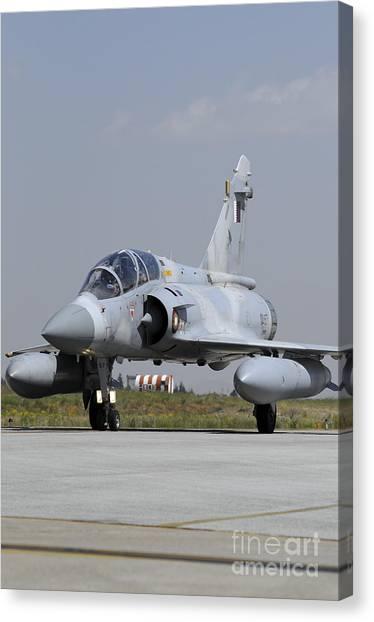 Emir Canvas Print - A Mirage 2000-5dda From The Qatar Emiri by Riccardo Niccoli