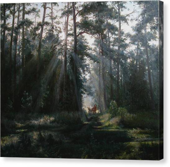 A Misty Morning Canvas Print by Korobkin Anatoly
