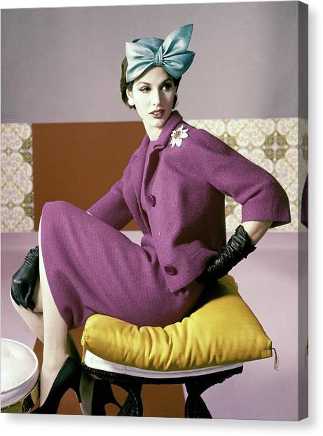 A Model Wearing A Dress Suit Canvas Print by Horst P. Horst