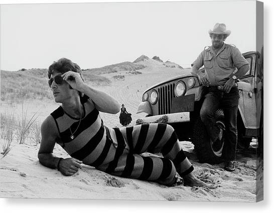 Police Officers Canvas Print - A Model Wearing A Drummond Tank-suit by Mark Patiky
