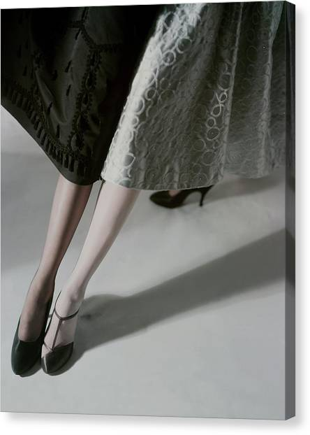 A Model Wearing Artcraft Stockings Canvas Print by Horst P. Horst