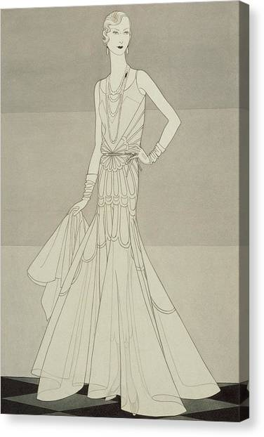 Indoors Canvas Print - A Model Wearing Chanel by Douglas Pollard