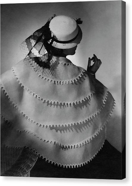 A Model Wearing Lanvin Canvas Print by Horst P. Horst
