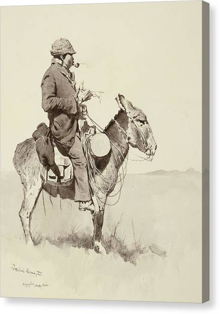 Signature Canvas Print - A Modern Sancho Panza by Frederic Remington