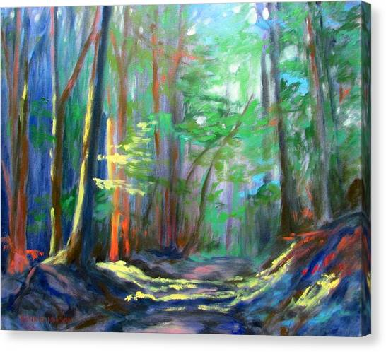 Forest Paths Canvas Print - A Moment In Time by Bonnie Mason