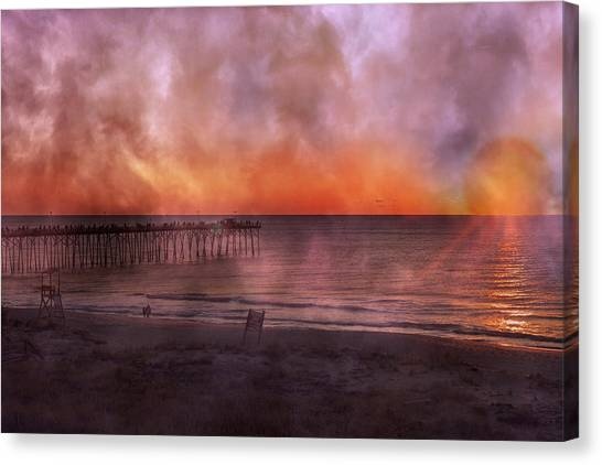 Beach Sunrises Canvas Print - A Moment Inspired Together by Betsy Knapp