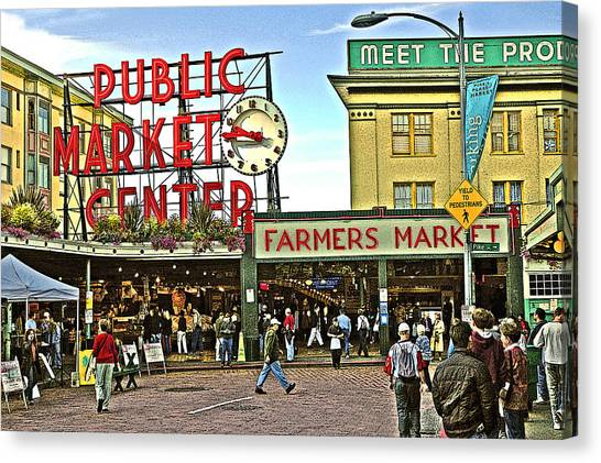 A Morning At Pikes Place Market Canvas Print