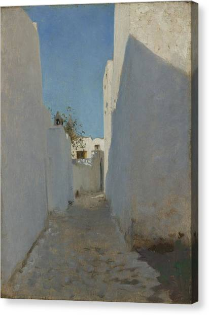 Moroccon Canvas Print - A Moroccan Street Scene, 1879-1880 by John Singer Sargent