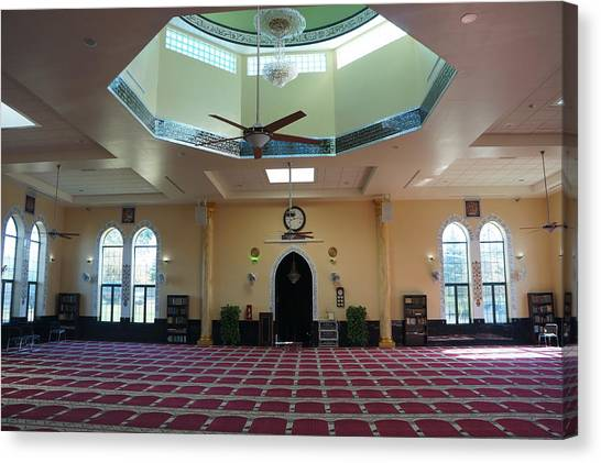 A Mosque Interior Canvas Print