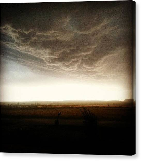 Big Sky Canvas Print - Heavy Hitter by Denette Jacobson