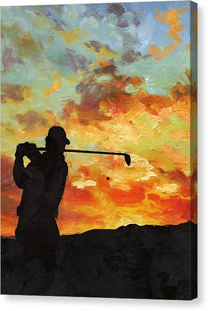 Tiger Woods Canvas Print - A New Dawn by Catf