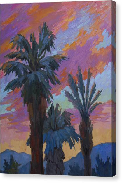 Desert Sunrises Canvas Print - A New Day by Diane McClary
