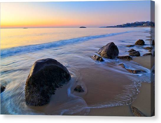 A New Day Singing Beach Canvas Print