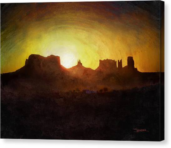 A New Day - Monument Valley Canvas Print