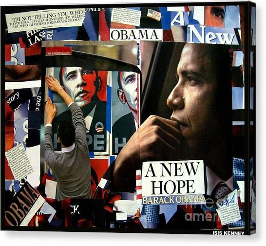Barack Obama A New Hope Canvas Print by Isis Kenney