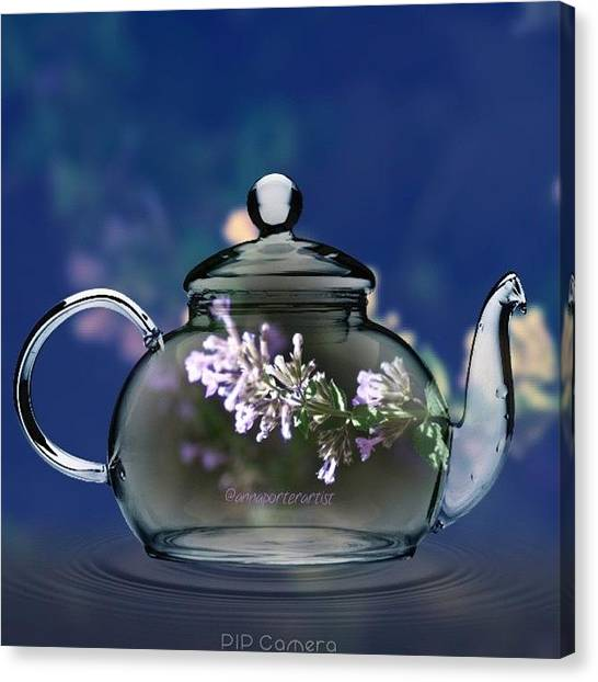 Meals Canvas Print - A Nice Pot Of Tea By @annaporterartist by Anna Porter