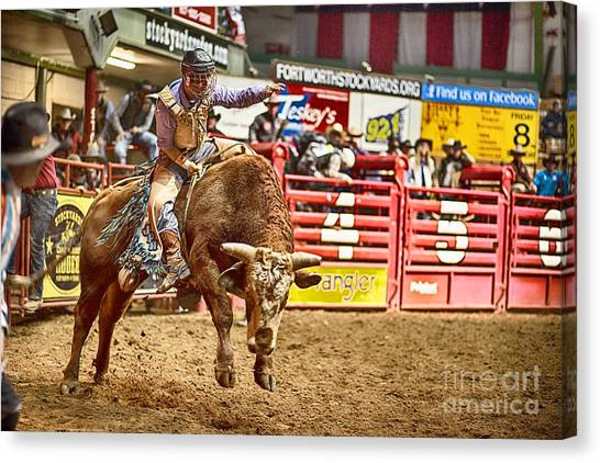 Rodeo Clown Canvas Print - A Night At The Rodeo V5 by Douglas Barnard