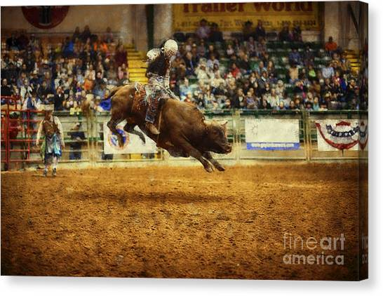 Rodeo Clown Canvas Print - A Night At The Rodeo V7 by Douglas Barnard
