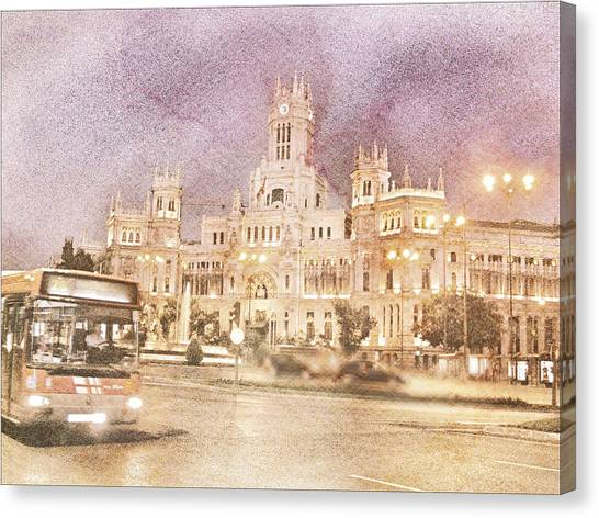 A Night In Madrid  Canvas Print