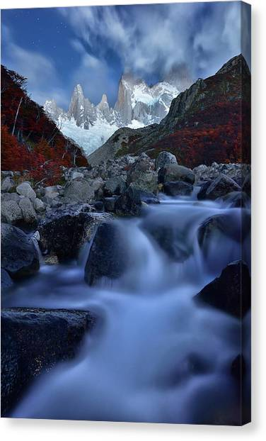 Argentinian Canvas Print - A Night In Patagonia by Mei Xu