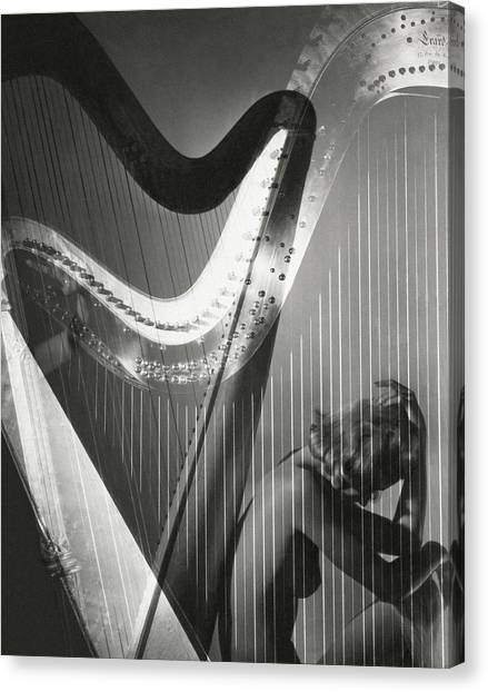 Stringed Instruments Canvas Print - A Nude Portrait Of Lisa Fonssagrives by Horst P. Horst