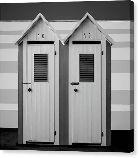 Beach Cabin Canvas Print - A Pair by Inge Schuster