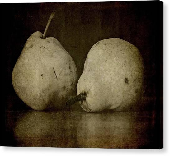 A Pair Of Pears Canvas Print