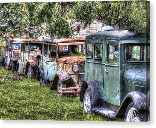 A Parade From The Past Canvas Print by Danny Pickens