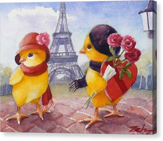 A Paris Valentine Canvas Print
