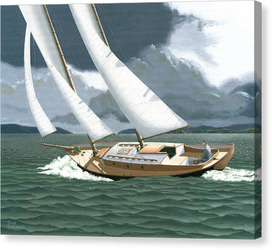 British Columbia Canvas Print - A Passing Squall by Gary Giacomelli