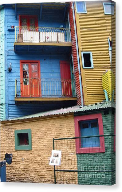 A Patchwork Of Houses Canvas Print