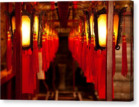 Hongkong Canvas Print - A Path Of Light And Prayers by Loriental Photography